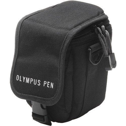 "Olympus Carrying Case For Camera - Black - Nylon - Belt Loop, Shoulder Strap - 4.3"" Height X 3"" Width X 3"" Depth (260584)"