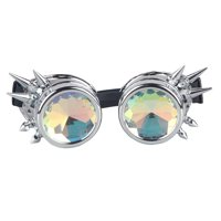 b2635e6827 Product Image C.F.GOGGLE Vintage Rivets Diffraction Goggles Welding  Steampunk Glasses Rainbow Kaleidoscope Crystal Lens Cosplay