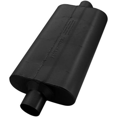 Series Delta Flow Muffler - Flowmaster 942550 50 Delta Flow Muffler - 2.50 Center In / 2.50 Center Out - Moderate Sound
