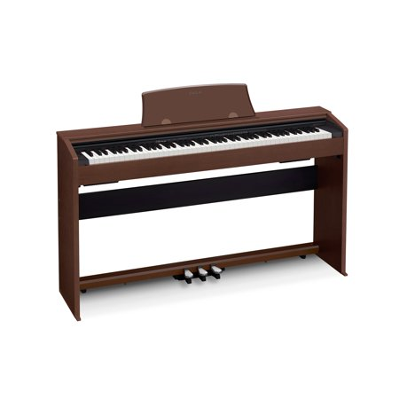 Casio PX770 Privia 88-Key Digital Home Piano with Scaled, Weighted Hammer-Action Keys, Brown