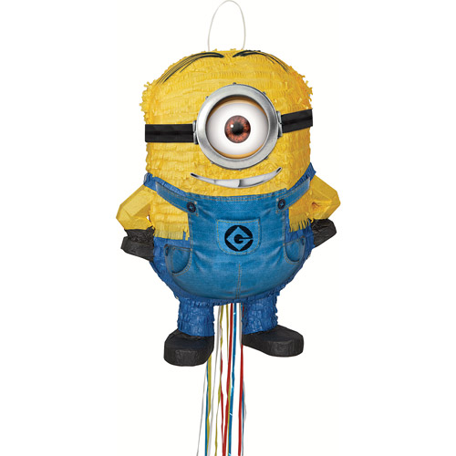 Despicable Me Minions Pinata, Stuart, Pull String 20 x 15 in, 1ct
