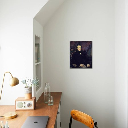 Portrait of Jacques Fromental Levy Dit Halevy, by Francois Gabriel Lepaulle  Wood Mounted Print Wall Art