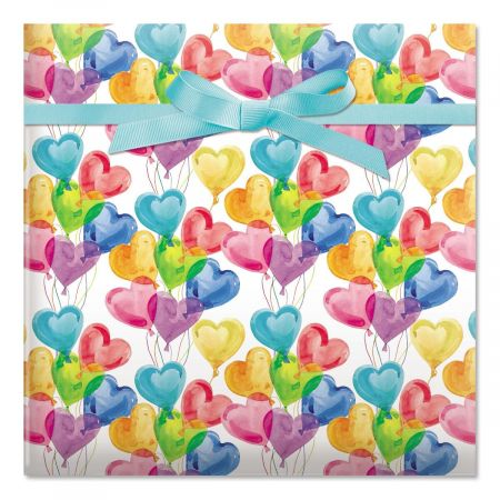Lovely Balloons Birthday Rolled Gift Wrap - 72 square feet