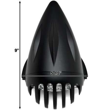 "Kapsco Moto 4 3/4"" Black Round Motorcycle Classic Headlight For Harley Davidson Ultra Tour Glide Classic - image 3 of 6"