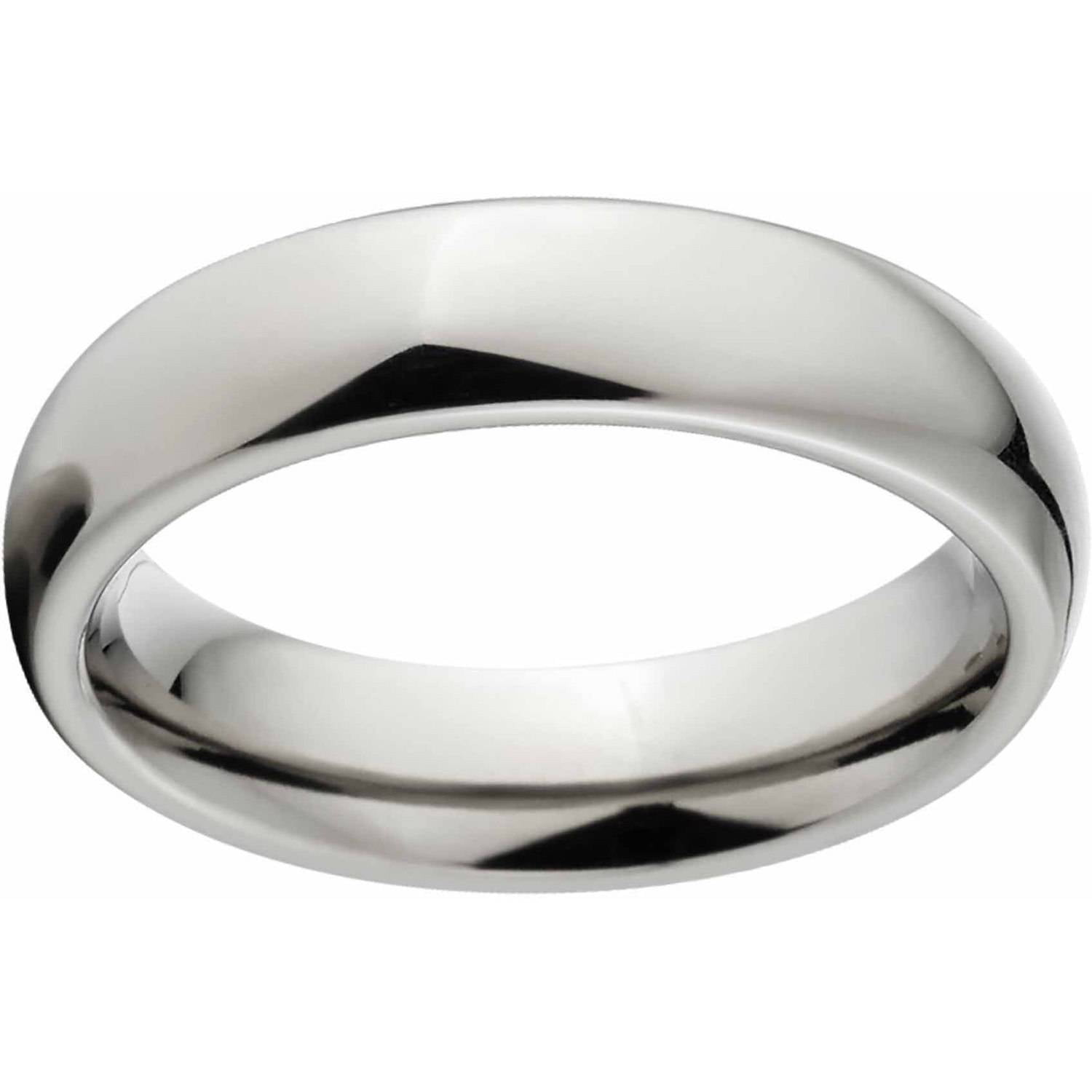 Polished 4mm Titanium Wedding Band with Comfort Fit Design
