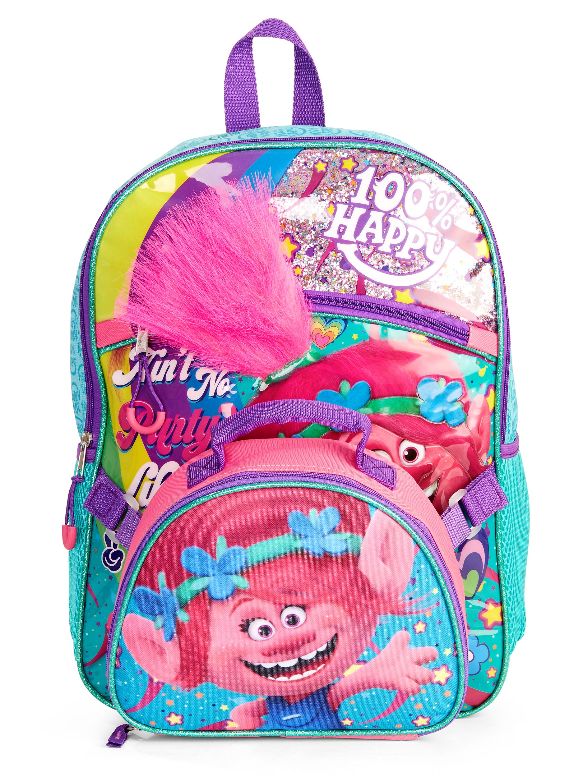 DreamWorks Trolls Girl's Backpack With Lunch Bag