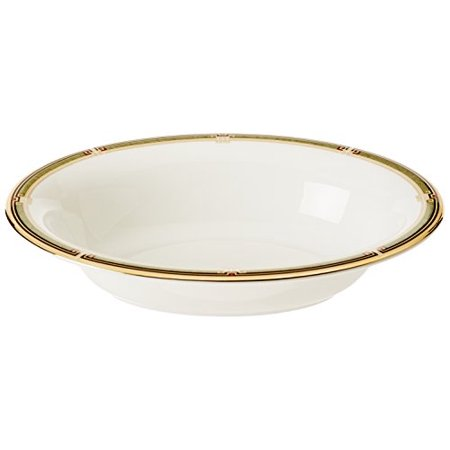 "Wedgwood OBERON OPEN VEGETABLE BOWL OVAL BORDER 9.75"" ()"