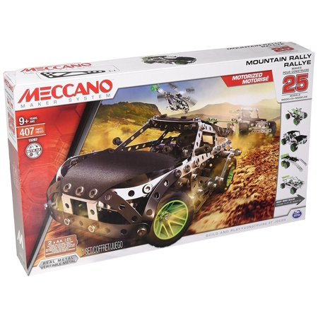 Meccano Motorized Mountain Rally Vehicle, 25 Model Building Set, 390 Pieces, For Ages 9+, STEM Construction Education Toy](Building Toys For 7 Year Olds)