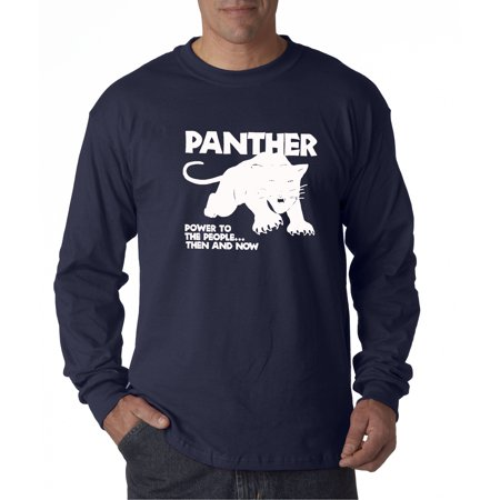 8baf7a599b7baf Allwitty 1092 - Unisex Long-Sleeve T-Shirt Black Panthers Power To ...