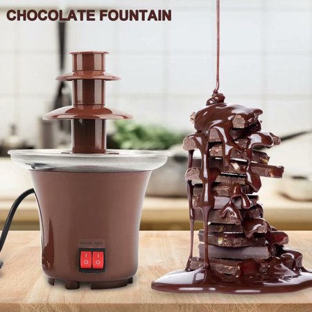 VicTsing Mini Chocolate Fountain Machine 3-Tier Household Electric Hot Pot Melter for Kids Party Halloween Christmas](Halloween Chocolate Fountain)