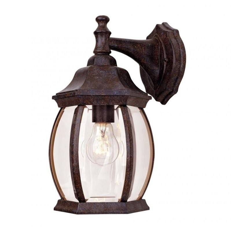 Savoy House Exterior Collections Wall Mount Lantern in Rustic Bronze