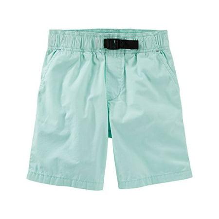 OshKosh B'gosh Big Boys' Pull-On Poplin Shorts, Turquoise, 10 Kids