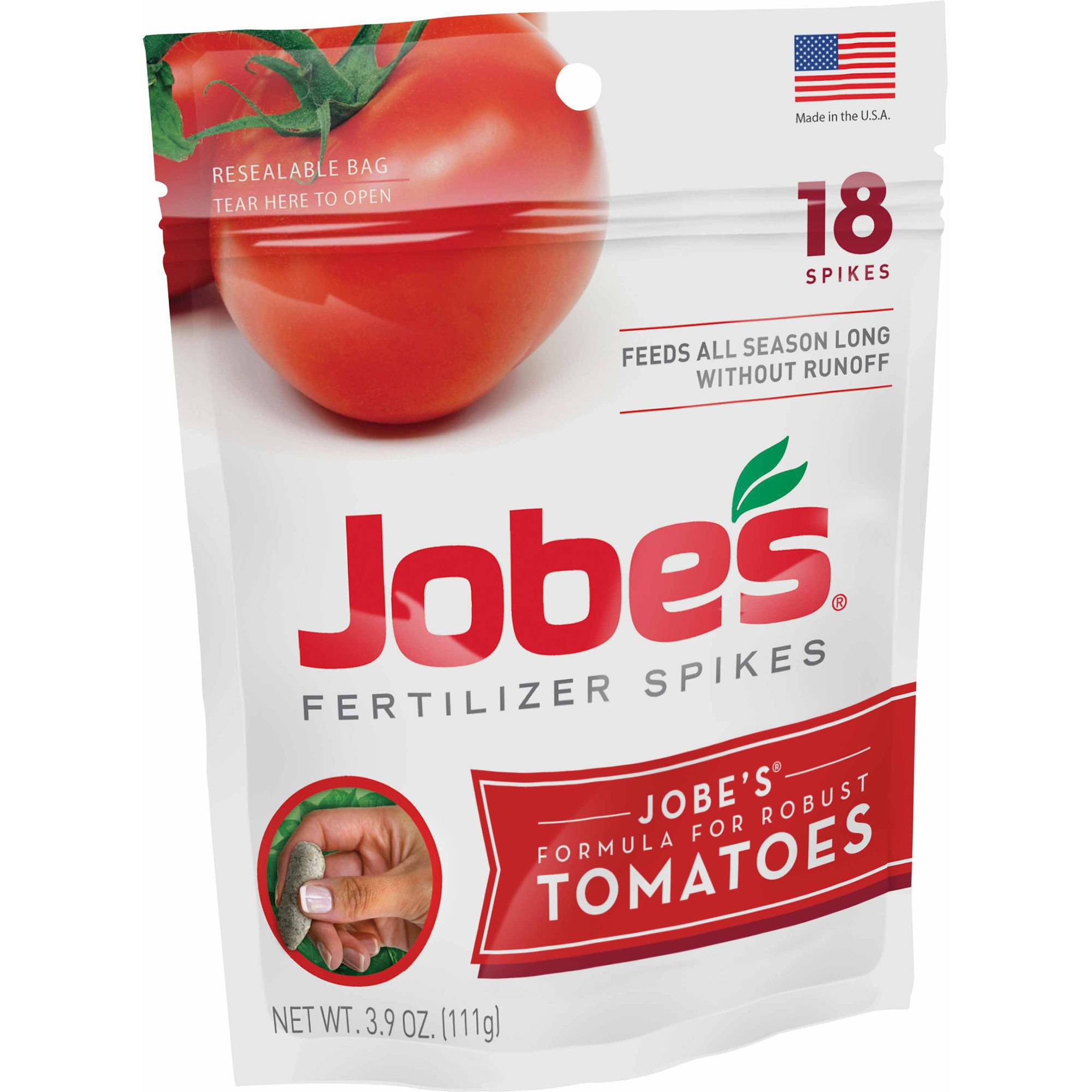 Jobe's Tomato Plant Spikes Plant Food, 18 units