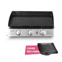 Royal Gourmet PD1300 3-Burner 27,000-BTU Portable Gas Grill Griddle, Outdoor Camping, Tailgating