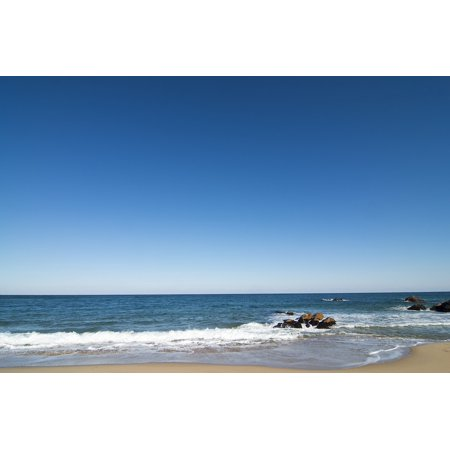Canvas Print Sea Beach Waves Nature Mesh Beach Background Stretched Canvas 10 X 14 ()