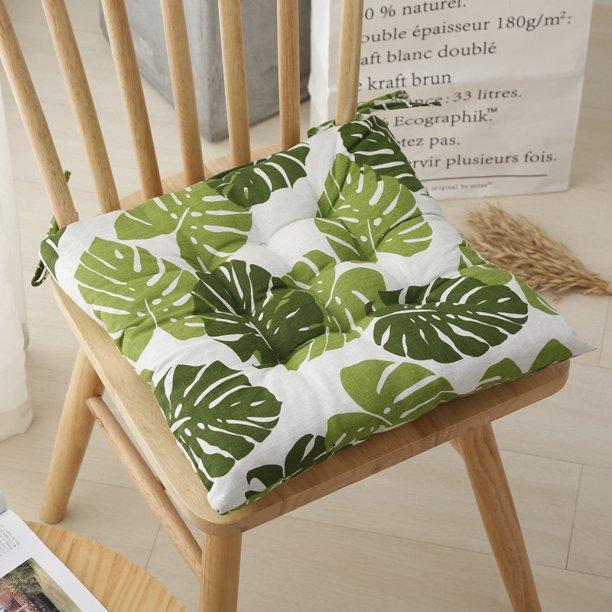 15 7 X15 7 Square Chair Cushions Chair Pads With Ties Thick Cotton Chair Cushion For Dining Chair Patio Chair Patio Tatami Home Walmart Com Walmart Com