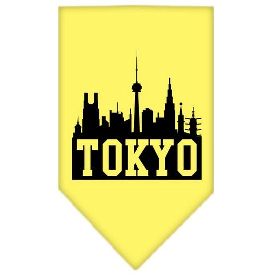 Tokyo Skyline Screen Print Bandana Yellow Small