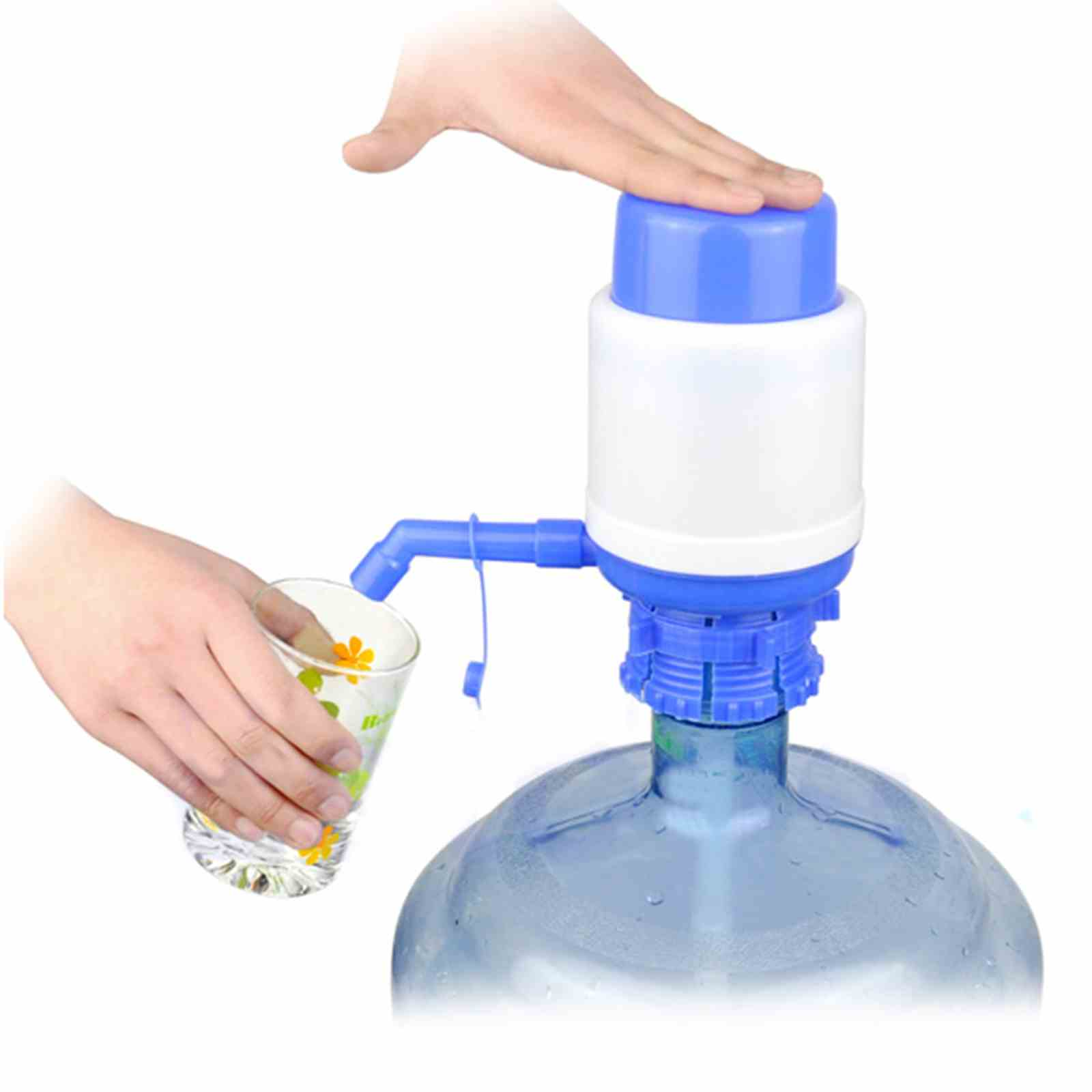 Jeobest Drinking Water Hand Press Pump for Bottled Water Dispenser 5 Gallon Home Office MZ