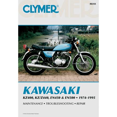 Repair Manual Motorcycle Manuals Clymer Kawasaki Kz400 To En500 Kz/en 400-500 74-95 Kawa Kz-400 Kz400/z440 En450/500 (Kawasaki En500 Manual)