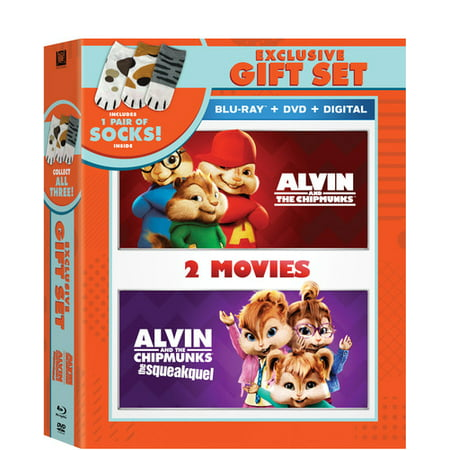 Alvin and the Chipmunks + Alvin and the Chipmunks 2 Double Feature (Blu-Ray + DVD + Digital Copy + Socks) (WM - Alvin And The Chipmunks Songs Halloween