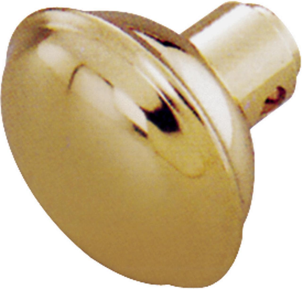 Toolbasix 7296494-3L Door Knob Lock, Steel, Brass Plated
