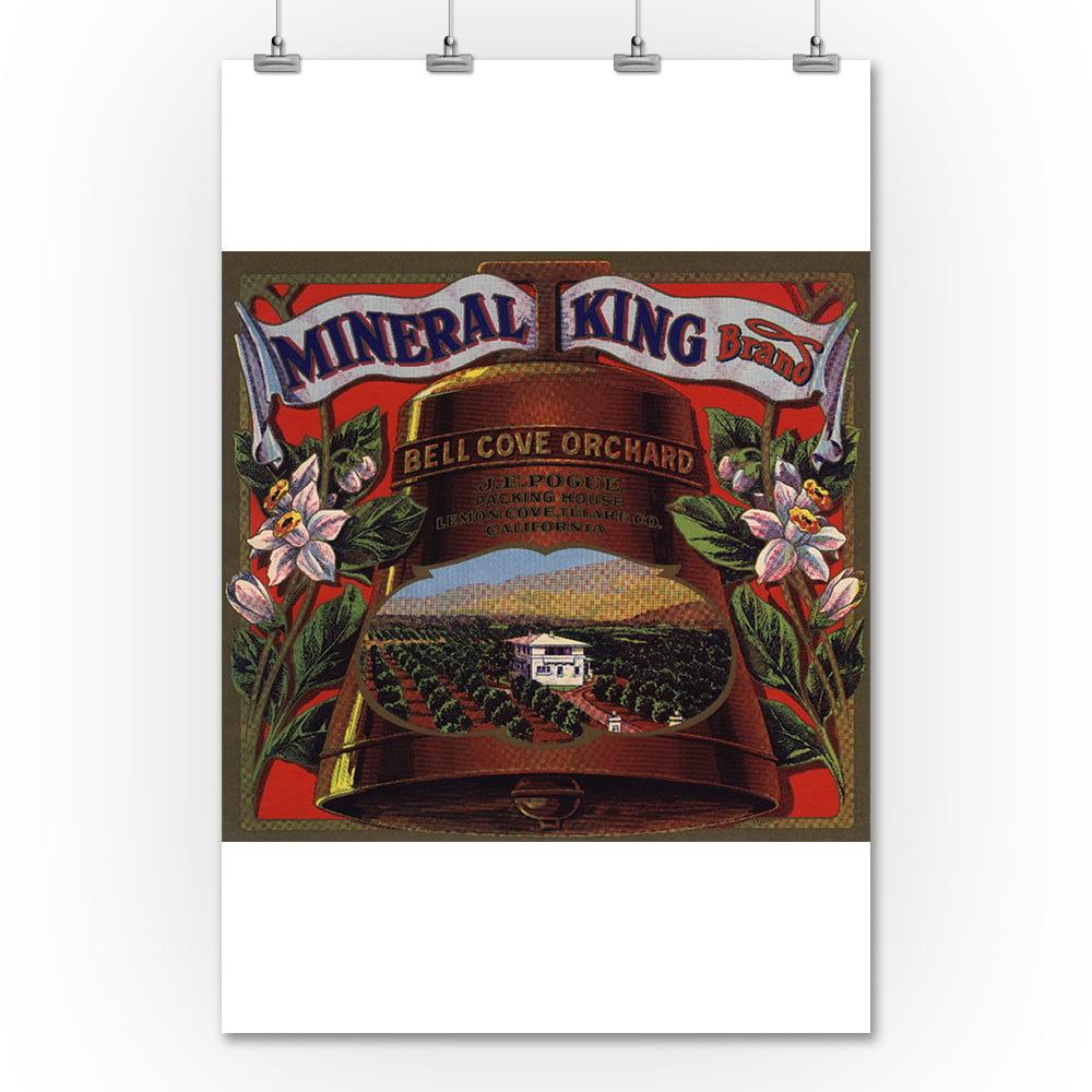 Lantern Press Mineral King Brand - Lemon Cove, California...