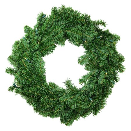 Darice Battery Operated LED Canadian Pine Christmas Wreath ()