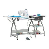 Sew Ready STDN-38018 Venus Sewing Machine Craft Table Computer Desk, Silver