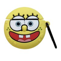 AkoaDa Silicone Case Airpods 1/2 Cover SpongeBob Case Cover for Apple Airpods 1/2