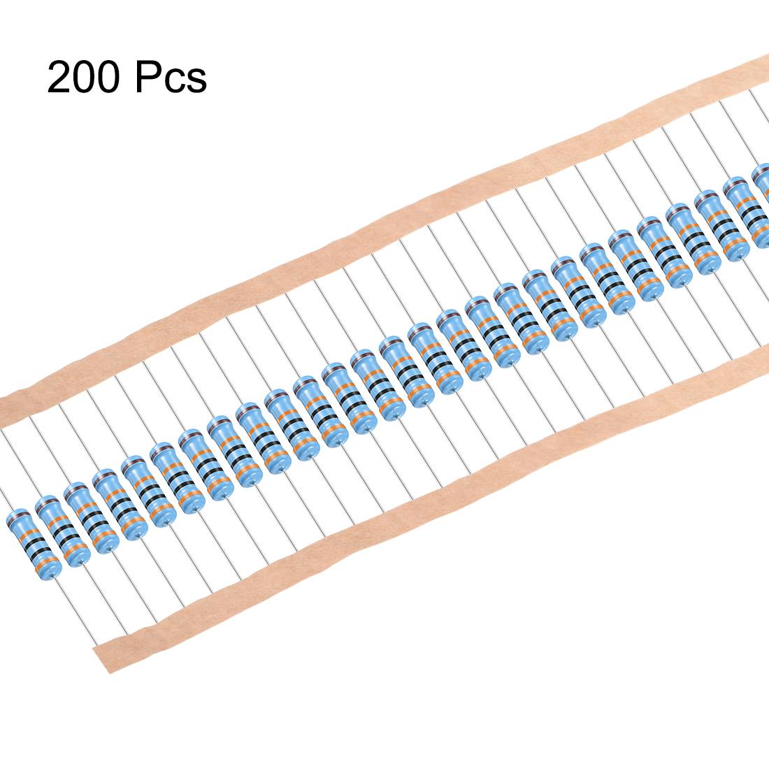 Metal Film Resistors 300k Ohm 1W 1% Tolerances 5 Color Bands Pack of 200 - image 2 of 4
