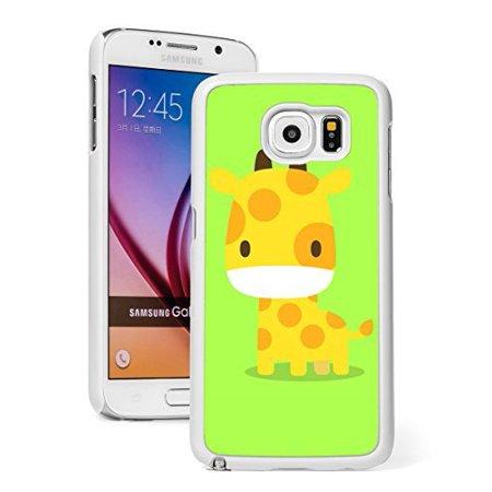Giraffe Folded Note - Samsung Galaxy Note 5 Hard Back Case Cover Baby Giraffe Cartoon on Yellow Green (White)