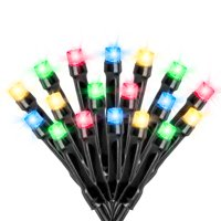 125 Solar Powered LED String Lights, 68 Feet - Multi-Colored