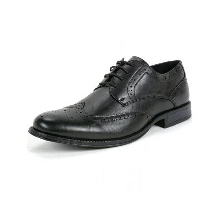 Perforated Wing Tip - Alpine Swiss Zurich Men's Oxfords Brogue Medallion Wing Tip Lace Up Dress Shoes