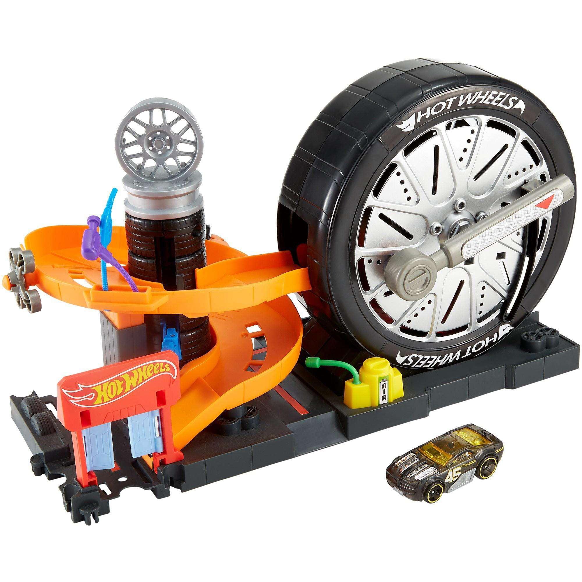 Hot Wheels City Super Spin Tire Shop Play Set by MATTEL INC.