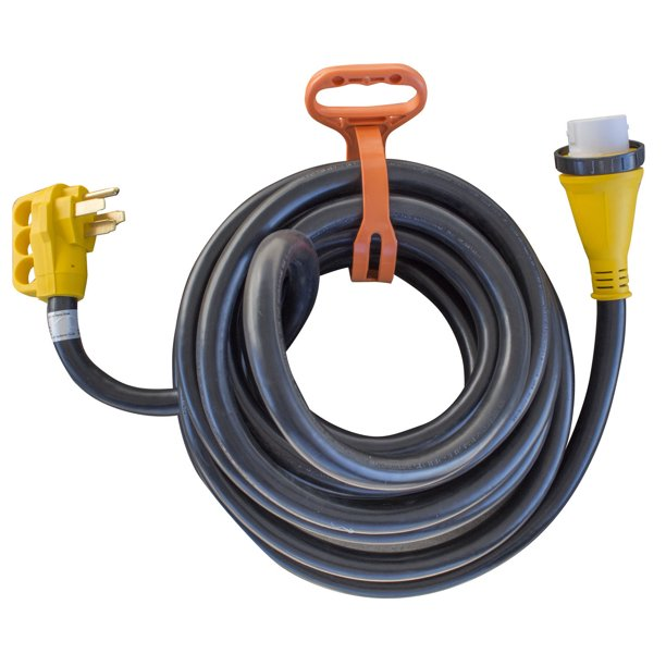 Offex 30 125 250 Volt 50 Amp Marine Type Pigtail Extension Cord With Roll Up Carry Strap Yellow Black Walmart Com Walmart Com