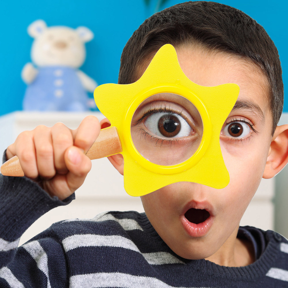 Mosunx Portable Star Magnifier Children HD Magnifying Glass Science Experiment Toys