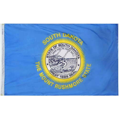 South Dakota State Flag, 3' x 5', Nylon SolarGuard Nyl-Glo, Model# 144960