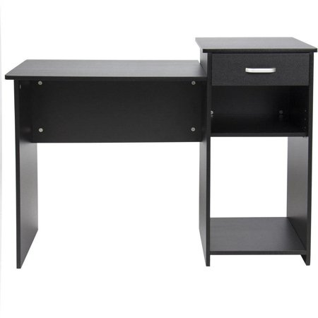 Ktaxon Writing Computer Lap Desk Home Office Desk Computer Table Study Writing Desk Workstation with Drawer Shelving ()