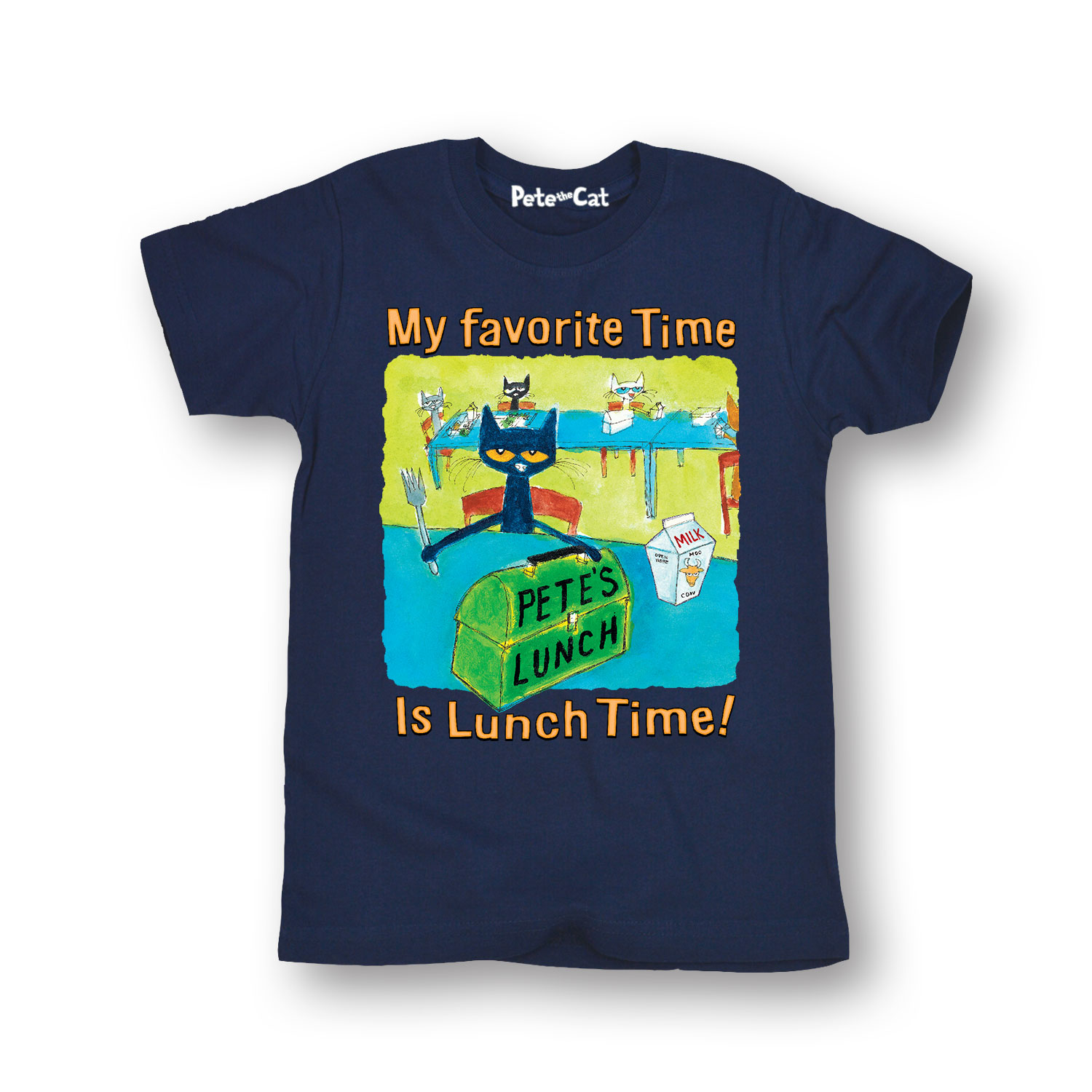 Pete The Cat My Favorite Time Multi - Toddler Short Sleeve Tee