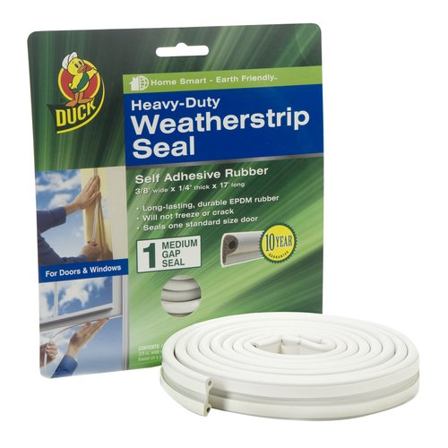 Duck Brand Heavy Duty Weatherstrip Seal for Medium Gaps