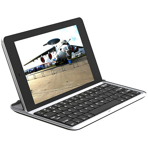 Inland 71110 Aluminum Case with Bluetooth Keyboard for Google Nexus 7, Silver/Black
