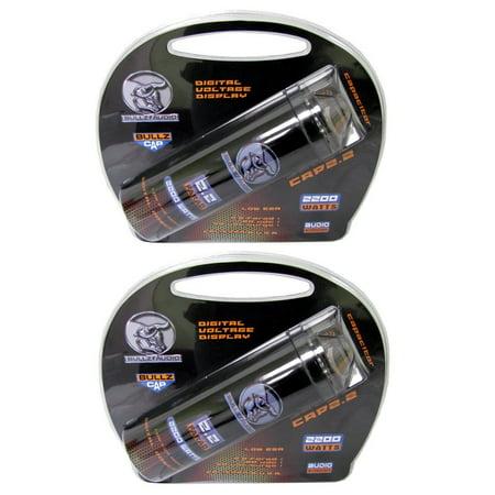 (2) BULLZ AUDIO 2200W 12V BCAP 2.2 Digital Car Power Farad Capacitors | BCAP2.2 (Digital Car Audio Capacitor)