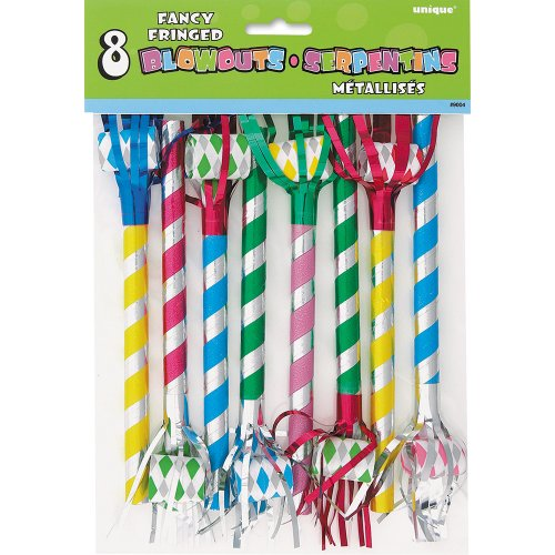 Fancy Fringed Party Blowers 8ct