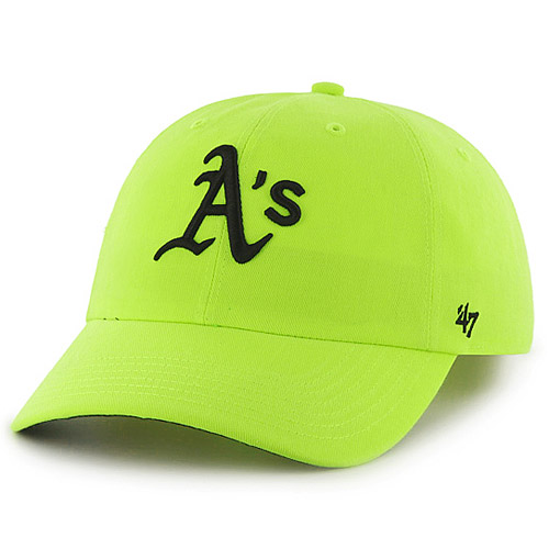 Oakland Athletics '47 Women's Neon Clean Up Adjustable Hat - Yellow - OSFA