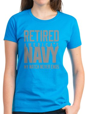 6b1675d4b3c Product Image CafePress - US Navy Retired Not Decommiss - Women s Dark  T-Shirt