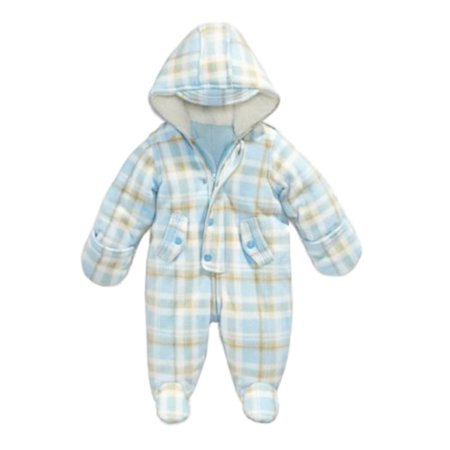 62ecbe2d7 First Impressions - First Impressions Infant Boys Plush Blue Plaid ...
