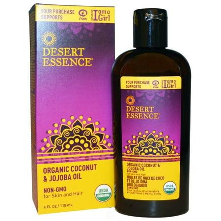 Desert Essence Organic Coconut & Jojoba Oil 4 Ounce, Pack of 2 3.5 Ounce Desert Essence