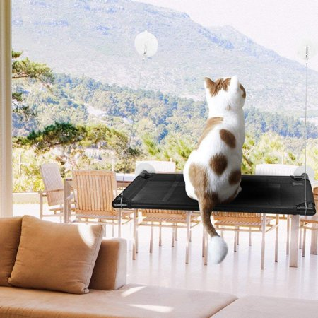 Cat Window Perch Hammock Cat Bed Mounted Cat Sunshine Seat Durable Pet Perch with 4 Big Heavy Duty Suction Cups Cat Bed Holds Up to 60lbs