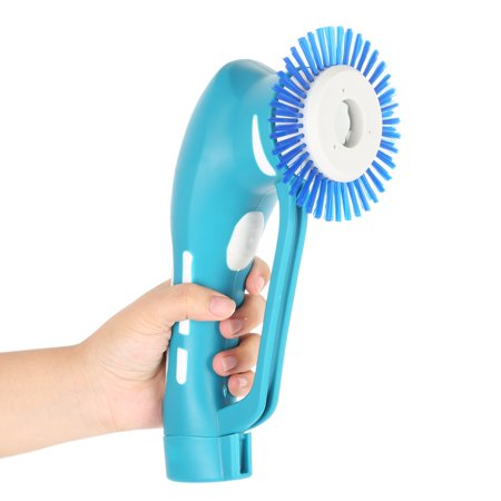 AngelCity Home Multifunction Handheld Electric Automatic Power Spin Scrubber Cleaning Brush Kit With Rechargeable Battery & 7 Detachable Replacement - Battery Automatic Scrubber