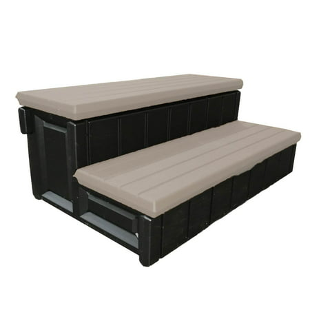"""Image of """"Leisure Accents 36"""""""" Patio Spa Storage Compartment Steps, Portabello (2 Pack)"""""""